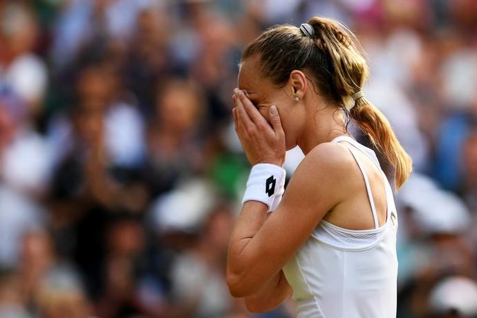 Magdalena Rybarikova vence Karolina Pliskova em Wimbledon (Foto: Shaun Botterill / GETTY IMAGES EUROPE / Getty Images/AFP)