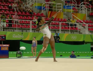 Toni-Ann Williams; Jamaica; ginástica artística; olimpíadas (Foto: Imagens/Sportv)