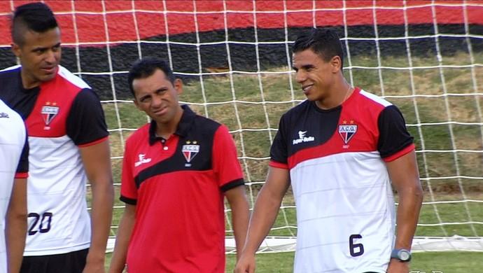 Mateus Alonso e Murilo, reforços do Atlético-GO (Foto: Reprodução/TV Anhanguera)