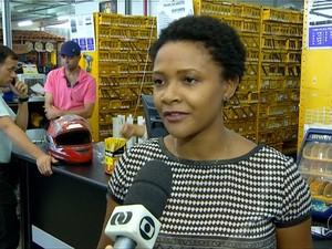 Lojista em Palmas (Foto: Reprodução/TV Anhanguera)