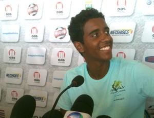 Gabriel jogador do Bahia coletiva (Foto: Tamires Fukutani / Globoesporte.com)