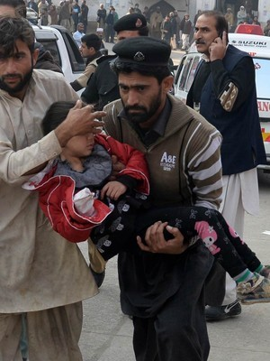 Ataque no Paquistão (Foto: A Majeed/AFP)