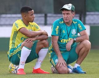 Gabriel Jesus Cuca Palmeiras (Foto: Fabio Menotti/Ag Palmeiras/Divulgação)