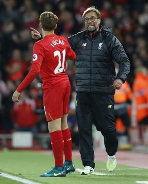 Lucas Leiva Klopp Liverpool (Foto: Reuters)