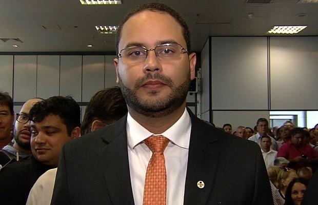 Rodrigo Silveira Melo é o novo secretário de Administração de Goiânia, Goiás (Foto: Reprodução/TV Anhanguera)