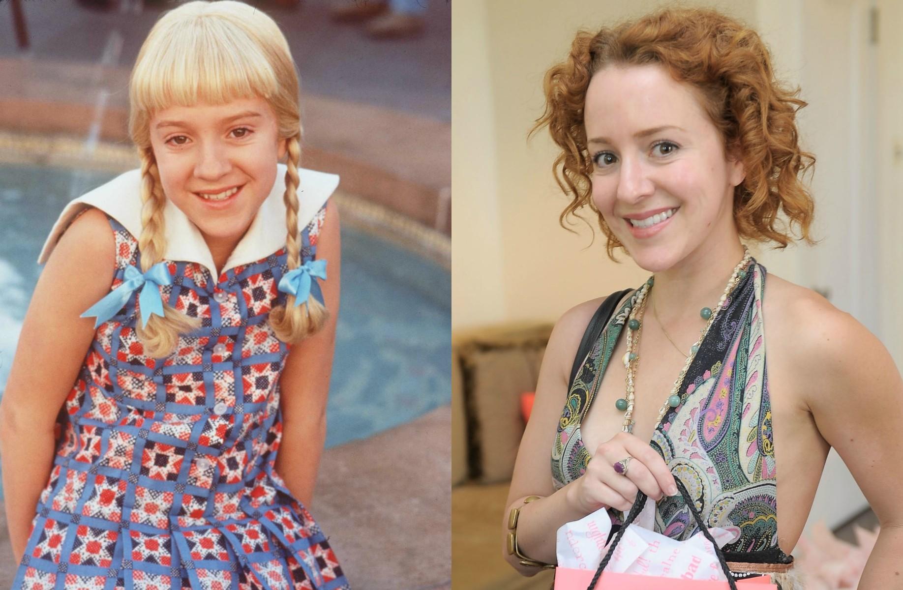 Olivia Hack fez a versão para o cinema de 'A Família Sol, Lá, Si, Dó' em 1995. Agora está com 31 anos. (Foto: Reprodução e Getty Images)