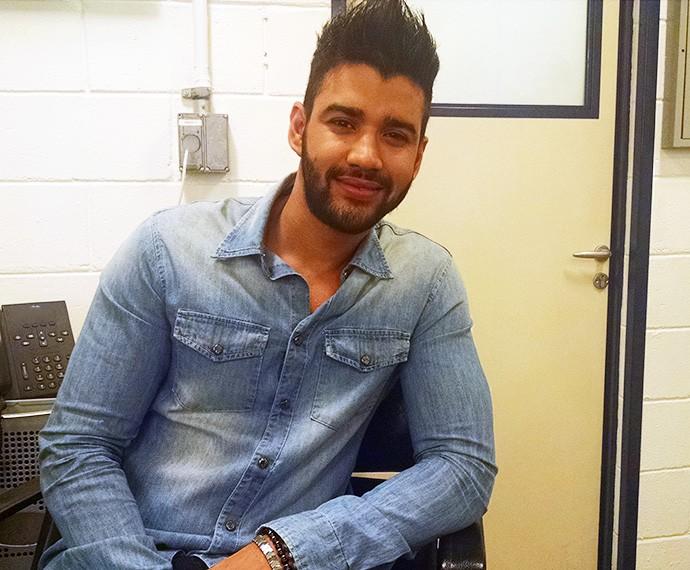 Gusttavo Lima diz que canção 'Você Não me Conhece' descreve relação com Andressa (Foto: Carolina Berger/Gshow)