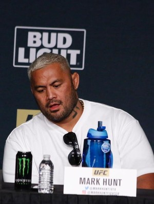 Mark Hunt Coletiva UFC 200 (Foto: Evelyn Rodrigues)