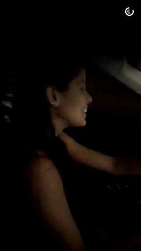 Munik dirigindo o carro novo (Foto: Reprodução/Snapchat)