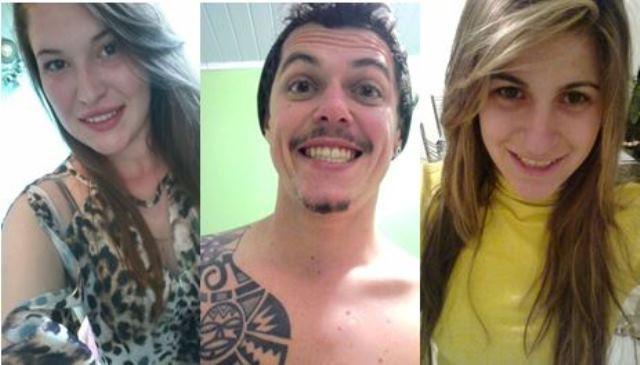 Denise, Maurício e Camila morreram na madrugada deste domingo no Oeste catarinense (Foto: Reprodução/Facebook)