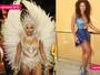 Juliana Alves aparece mais magra em feijoada com a Unidos da Tijuca