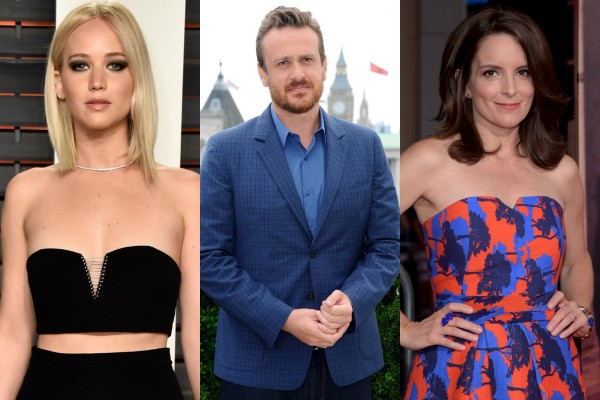 Jennifer Lawrence, Jason Segel e Tina Fey (Foto: Getty Images)