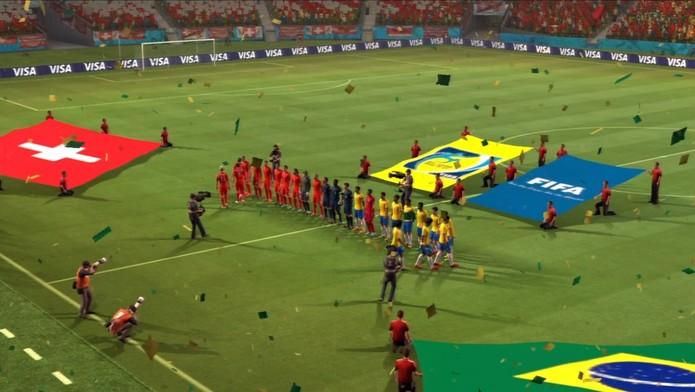 Brasil X Suiça (Foto: Reprodução / TechTudo)