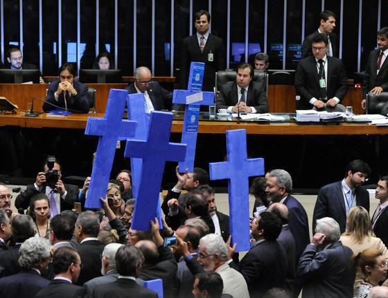Discussão sobre a reforma trabalhista na Câmara  (Foto: Agência Câmara )