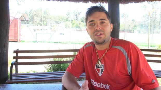 Diogo, lateral-esquerdo do São Paulo (Foto: Alexandre Lozetti / Globoesporte.com)