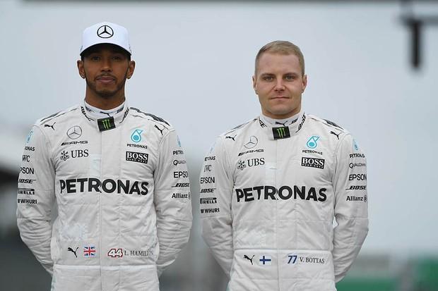 Lewis Hamilton passa a ter Valtteri Bottas (ex-Williams) como companheiro de equipe (Foto: Divulgação)