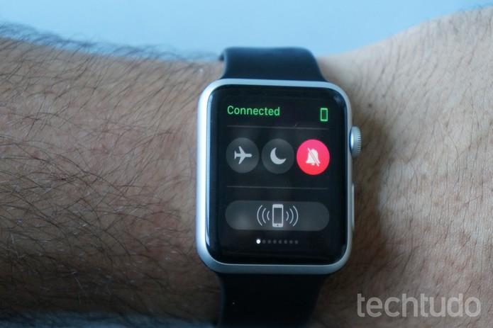 O Apple Watch conta com várias funções convenientes para o dia a dia (Foto: Bernardo Dabul/TechTudo)