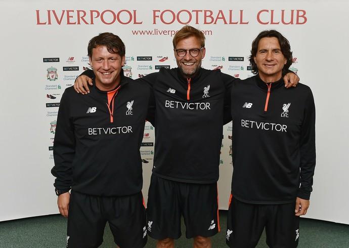 Jurgen Klopp Zeljko Buvac Peter Krawietz Liverpool (Foto: Divulgação/Liverpool)