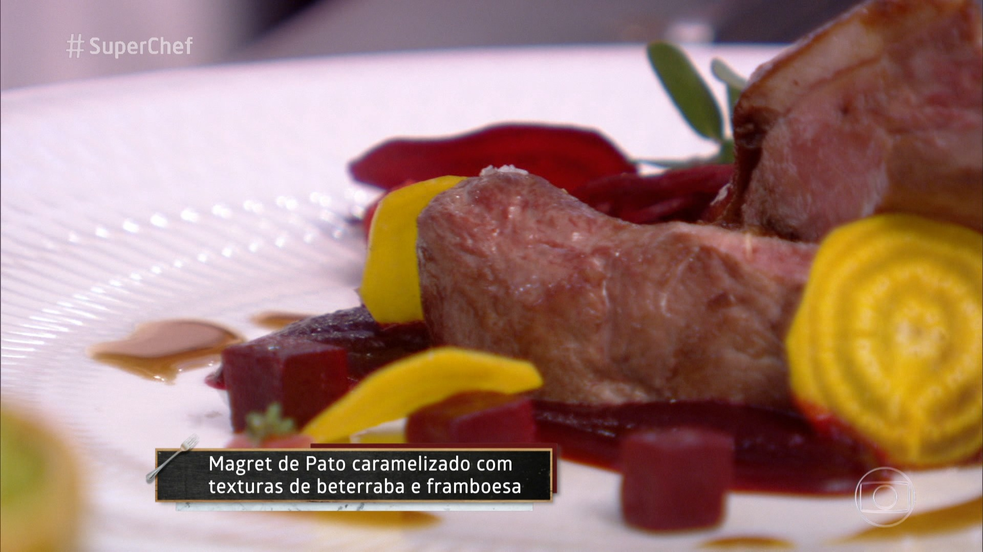 Magret de pato caramelizado do chef Joachim Koerper