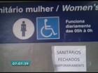 Banheiros da linha Azul do Metrô estão fechados há uma semana