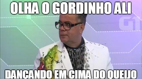 Memes do Milton Cunha: olha o gordinho ali (Foto: Reprodução/G1)