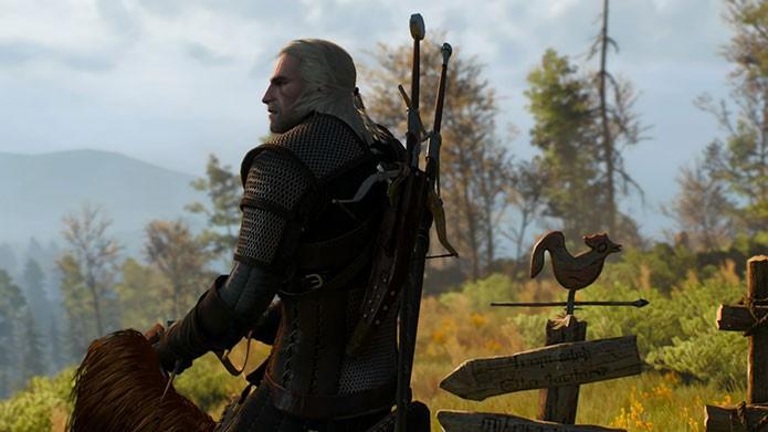 Geralt de Rivia em The Witcher 3: Wild Hunt (Foto: Reprodução/Felipe Vinha)