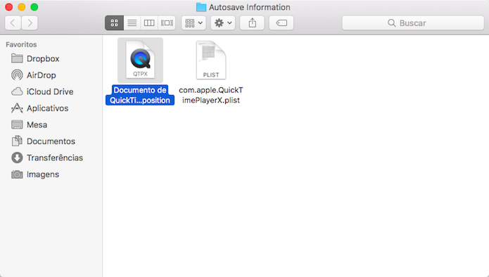 Restaurando uma gravação de tela do QuickTime (Foto: Reprodução/Helito Bijora)