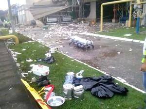 Explosão aconteceu por volta das 9h na fábrica de cerveja em Jacareí (Foto: Divulgação/ Sindicato dos Trabalhadores da Alimentação)