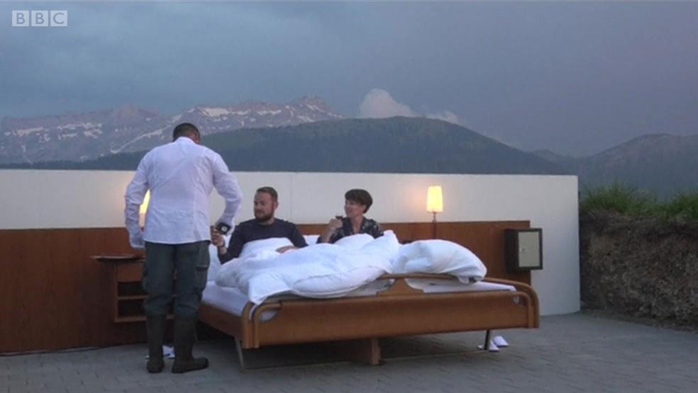 Hotel 'Zero Estrela' tem quartos a céu aberto e vista para as montanhas (Foto: BBC)
