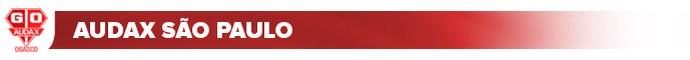 header audax são paulo - vermelho (Foto: arte esporte)