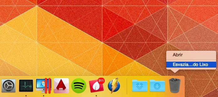 Esvazie a lixeira para remover completamente o navegador (Foto: Reprodução/Helito Bijora)