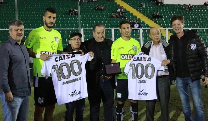 Marquinhos e Dudu Figeuirense (Foto: Reprodução)