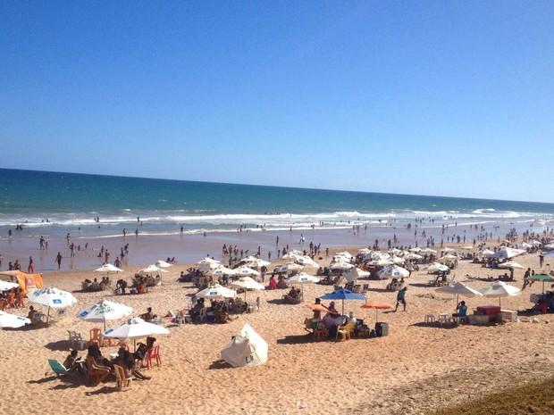 Praia do Corsário, no bairro da Boca do Rio, em Salvador (Foto: Alan Tiago Alves/G1)