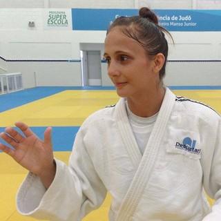 Gilmara Prudencio, judoca de Praia Grande (Foto: Antonio Marcos)