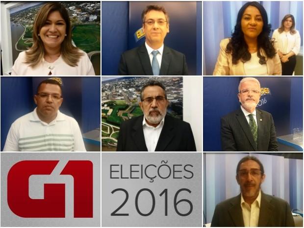 Debate entre candidatos à Prefeitura Municipal de Macapá (Foto: Fabiana Figueiredo/G1; Jéssica Alves/G1; Jorge Abreu/G1)
