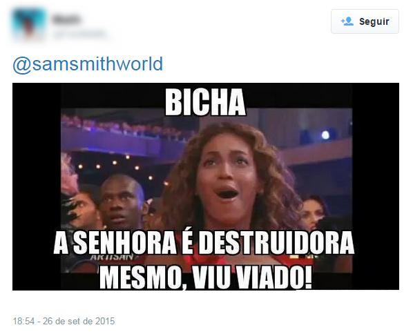 Internautas comentam show de Sam Smith (Foto: Twitter / Reprodução)