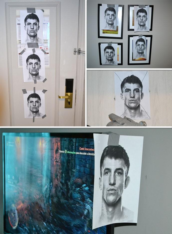 BLOG: Faminto por vitória, Patolino espalha 17 fotos de seu adversário pelo quarto