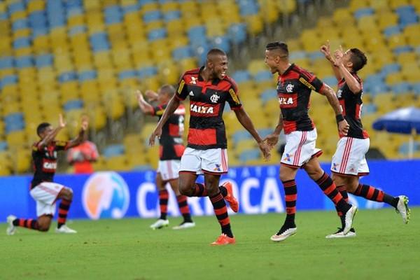 Marcelo Cirino comemora gol marcado pelo Flamengo (Foto: André Durão / Globoesporte.com)