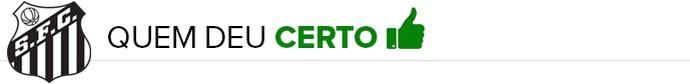 Santos QUEM DEU CERTO (Foto: infoesporte)