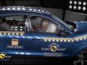 Porsche Macan é avaliado em teste de colisão (Foto: Reprodução)