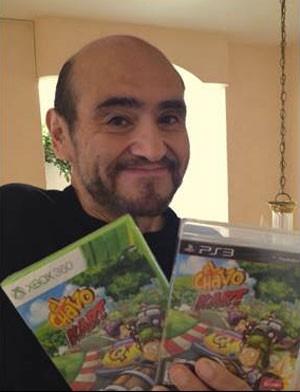 Edgar Vivar, o Senhor Barriga de 'Chaves', vem ao Brasil para o lançamento do game 'Chaves Kart' (Foto: Divulgação/Slang)