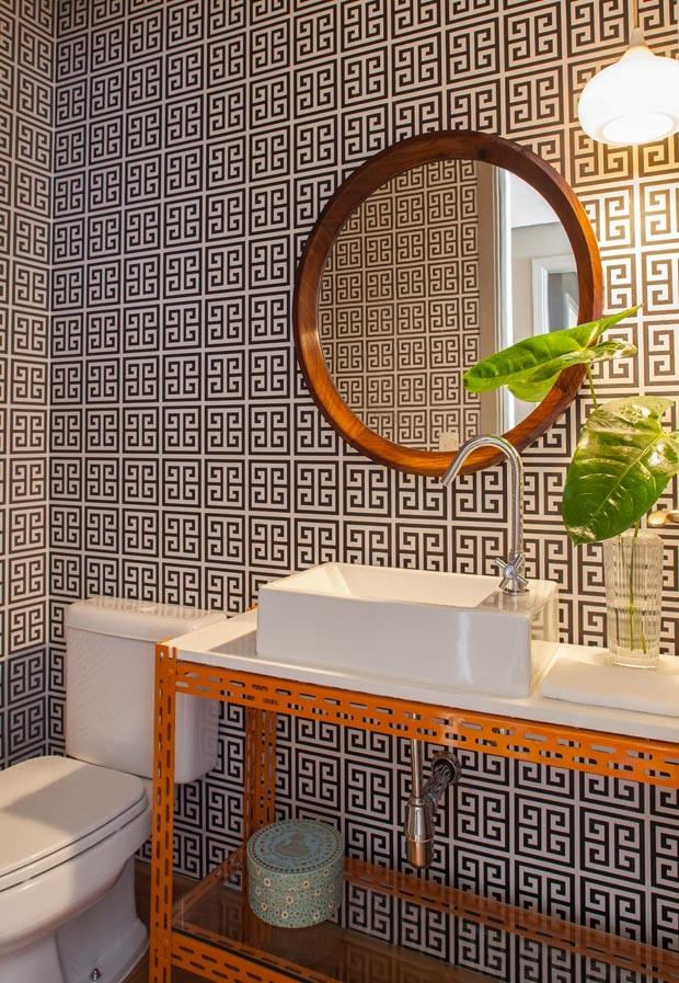 11 lavabos com papel de parede para voc se inspirar for Fotos lavabos