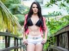 Gabrielle Cardoso ganha 1 kg de músculo: 'Peguei gosto por malhar'
