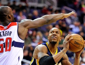 David West Emeka Okafor Washington Wizzards x Indiana Pacers (Foto: Getty Images)