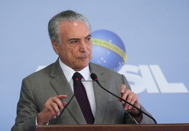 O presidente Michel Temer faz pronunciamento (Foto: Antônio Cruz/Agência Brasil)