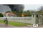 Fogo destrói almoxarifado de quartel do Exército em Porto Murtinho, MS