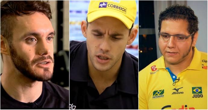 Douglas Broose, Thiago Pereira e Rafael Silva estão dormindo mais e melhor (Foto: Reprodução TV Globo)