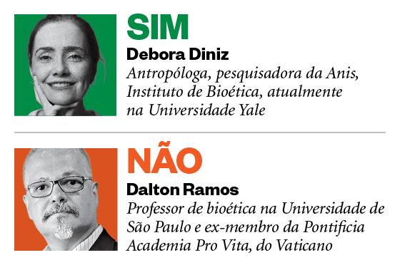Debatedores Aborto: Debora Diniz e Dalton Ramos (Foto: Época)
