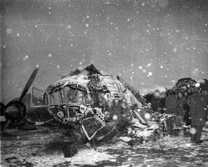 acidente manchester United 1958 (Foto: Agência AP)