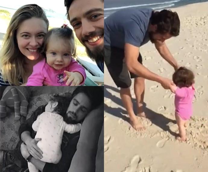 Rafael Cardoso conta que monitora o dia da filha por mensagens de celular (Foto: Vídeo Show / Gshow)